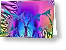 Tropical Fractal Greeting Card