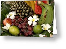 Tropical Fruit Basket Greeting Card by Cole Black