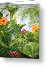 Tropical Garden Greeting Card