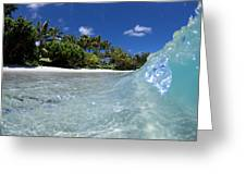 Tropical Glass Greeting Card