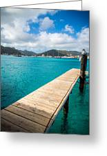 Tropical Harbor Greeting Card