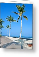 Tropical Island Beach And Sidewalk Art Prints Greeting Card