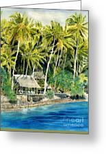 Tropical Island  Greeting Card