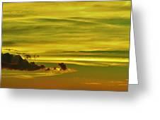 Tropical Isle In The Sky Greeting Card