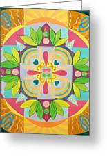 Tropical Mandala Greeting Card
