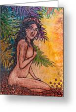 Tropical Nude Greeting Card