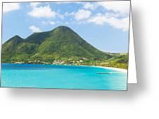 Tropical Panorama In The Caribbean Greeting Card
