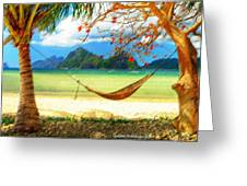Tropical Peace Greeting Card