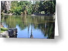 Tropical Reflection Greeting Card by Kiros Berhane