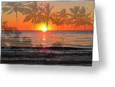 Tropical Spirits - Palm Tree Art By Sharon Cummings Greeting Card