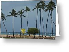 Tropical Storm Flossie Kapukaulua Beach Paia Maui Hawaii 2013 Greeting Card