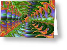 Tropical Swirls Layered Greeting Card