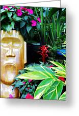Tropical Tiki Greeting Card