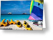 Tropical Toys Greeting Card