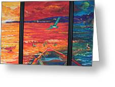 Tropical Trance Triptych Greeting Card