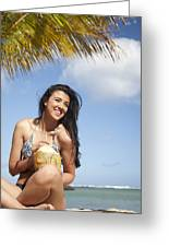 Tropical Vacationer Greeting Card by Brandon Tabiolo