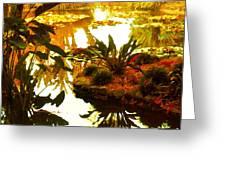 Tropical Water Garden Greeting Card