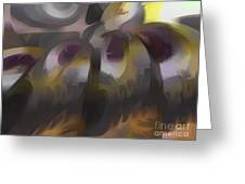 Tropical Wind Pastel Abstract Greeting Card