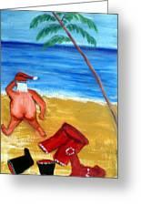 tropical Xmas Greeting Card