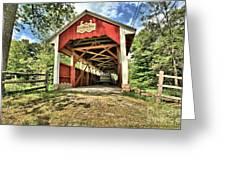 Trostle Town Covered Bridge Greeting Card