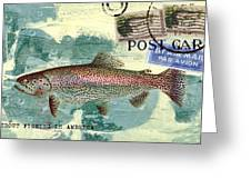 Trout Fishing In America Postcard Greeting Card