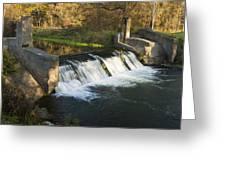 Trout Run Creek Dam 1 Greeting Card