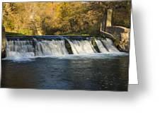 Trout Run Creek Dam 2 Greeting Card