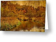 Trout Stream Textured Greeting Card