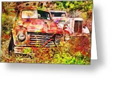 Truck Abstract Greeting Card by Robert Jensen