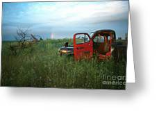 Truck And Rainbow Greeting Card