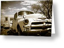 Truck And Trailer Greeting Card