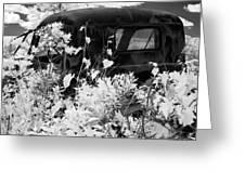 Truck Flowerpot - Infrared Greeting Card