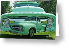 Truck In Grill Greeting Card