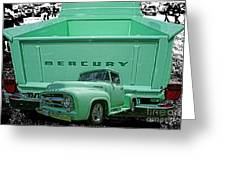 Truck In Tailgate-hdr Greeting Card
