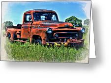 Truck In The Grass Greeting Card