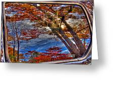 Truck Window Reflection 02 Greeting Card