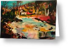 Truckee River Impression Greeting Card