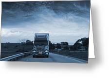 Trucking Late At Night Greeting Card