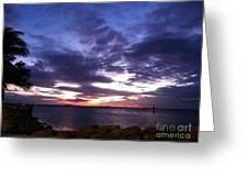 True Blue Sunset Greeting Card