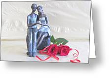 True Love In Silver Greeting Card