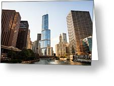 Trump Tower And Downtown Chicago Buildings Greeting Card