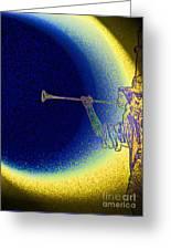 Trumpet Moon Greeting Card