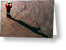 Trumpet Shadow Greeting Card