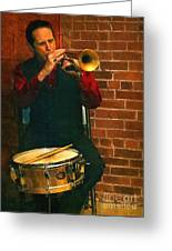 Trumpet Solo Greeting Card