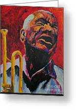 Trumpeter Shades Of Red Greeting Card