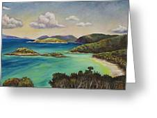 Trunk Bay Overlook Greeting Card