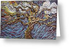 Trunk Of A Tree Greeting Card