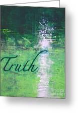 Truth - Emerald Green Abstract By Chakramoon Greeting Card