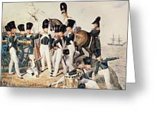 Tsarevich Alexander 1818-81 With His Cadets At Peterhof, C.1823 Wc On Paper Greeting Card