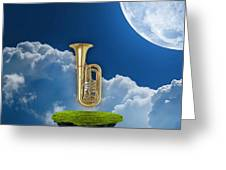 Tuba Dreams Greeting Card